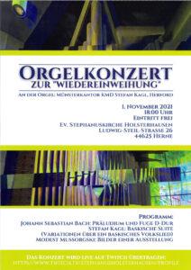 Orgelkonzert am 1.11.21